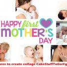 Custom Mother's Day w/ Your Own Pics Edible image Cake topper decoration