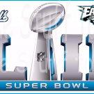 NFL Football Super Bowl 52 Patriots vs Eagles  Edible image Cake topper