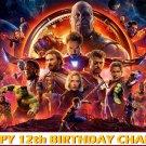 Avengers Infinity War Black Panther Iron Man Edible image Cake topper