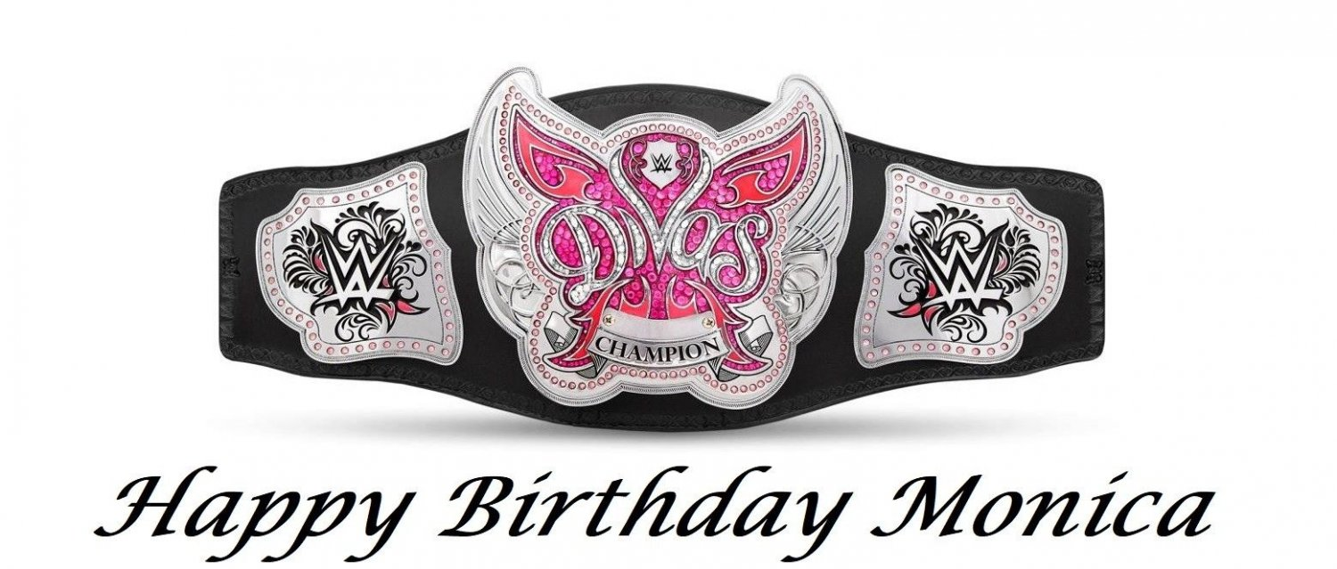 Admirable Wwe Divas Champion Belt Edible Image Cake Topper Decoration Personalised Birthday Cards Cominlily Jamesorg