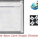 40 Stitch Blank Punch Card For PASSAP Knitting Machine With 4pcs Free Card Snaps