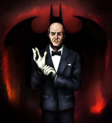 """Custom 3.75"""" DC ALFRED PENNYWORTH figure - poseable & MADE TO ORDER"""