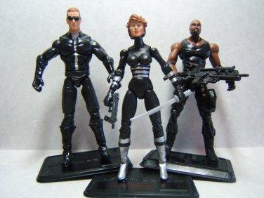 "Custom 3.75"" RESIDENT EVIL LOT 3 figures - poseable & ready to go"