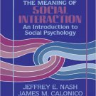 Ebook 978-1882289295 The Meaning of Social Interaction: An Introduction to Social Psychology