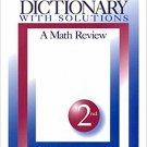 Ebook 978-0761917854 Math Dictionary With Solutions: A Math Review