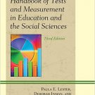 Ebook 978-1610484305 Handbook of Tests and Measurement in Education and the Social Sciences
