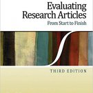 Ebook 978-1412974462 Evaluating Research Articles From Start to Finish