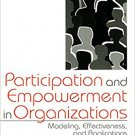 Ebook 978-0761907350 Participation and Empowerment in Organizations: Modeling, Effectiveness, and