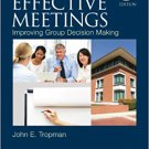 Ebook 978-1483340210 Effective Meetings: Improving Group Decision Making (SAGE Human Services Gui