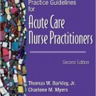 Ebook 978-1416003038 Practice Guidelines for Acute Care Nurse Practitioners