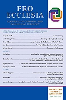Ebook Pro Ecclesia Vol 23-N3: A Journal of Catholic and Evangelical Theology