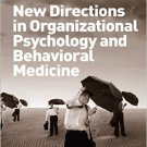 Ebook 978-1409410829 New Directions in Organizational Psychology and Behavioral Medicine (Psychol