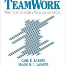 Ebook 978-0803932890 Teamwork: What Must Go Right/What Can Go Wrong (SAGE Series in Interpersonal