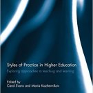 Ebook 978-0415826051 Styles of Practice in Higher Education: Exploring approaches to teaching and