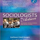 Ebook 978-1452203119 Sociologists in Action: Sociology, Social Change, and Social Justice