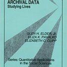 Ebook 978-0803942622 Working With Archival Data: Studying Lives (Quantitative Applications in the
