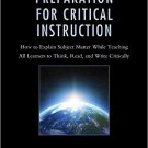 Ebook 978-1475825411 Preparation for Critical Instruction: How to Explain Subject Matter While Te