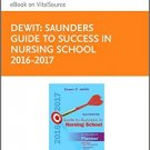 Ebook 978-0323443722 Saunders Guide to Success in Nursing School, 2016-2017: A Student Planner