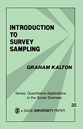 Ebook 978-1483347264 Introduction to Survey Sampling (Quantitative Applications in the Social Sci