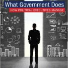 Ebook 978-1442232433 What Government Does: How Political Executives Manage