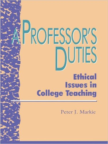 Ebook 978-0847679522 A Professor's Duties: Ethical Issues in College Teaching (Issues in Academic