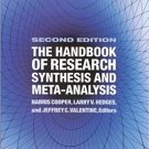 Ebook 978-0871541635 The Handbook of Research Synthesis and Meta-Analysis