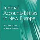 Ebook 978-0754677581 Judicial Accountabilities in New Europe: From Rule of Law to Quality of Just