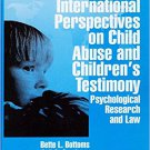 Ebook 978-0803956285 International Perspectives on Child Abuse and Children's Testimony: Psycholo