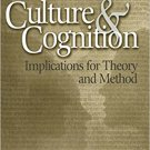 Ebook 978-0761929079 Culture and Cognition: Implications for Theory and Method