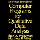 Ebook 978-0803955370 Computer Programs for Qualitative Data Analysis: A Software Sourcebook
