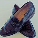Savio Lucci black leather loafers men size 10 M