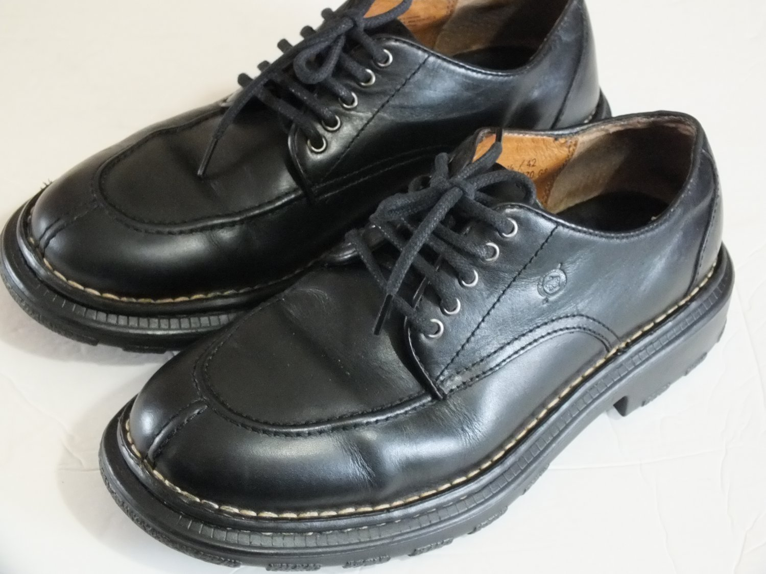 Born B3470 G3 mens oxford black leather split toe size  8.5 M