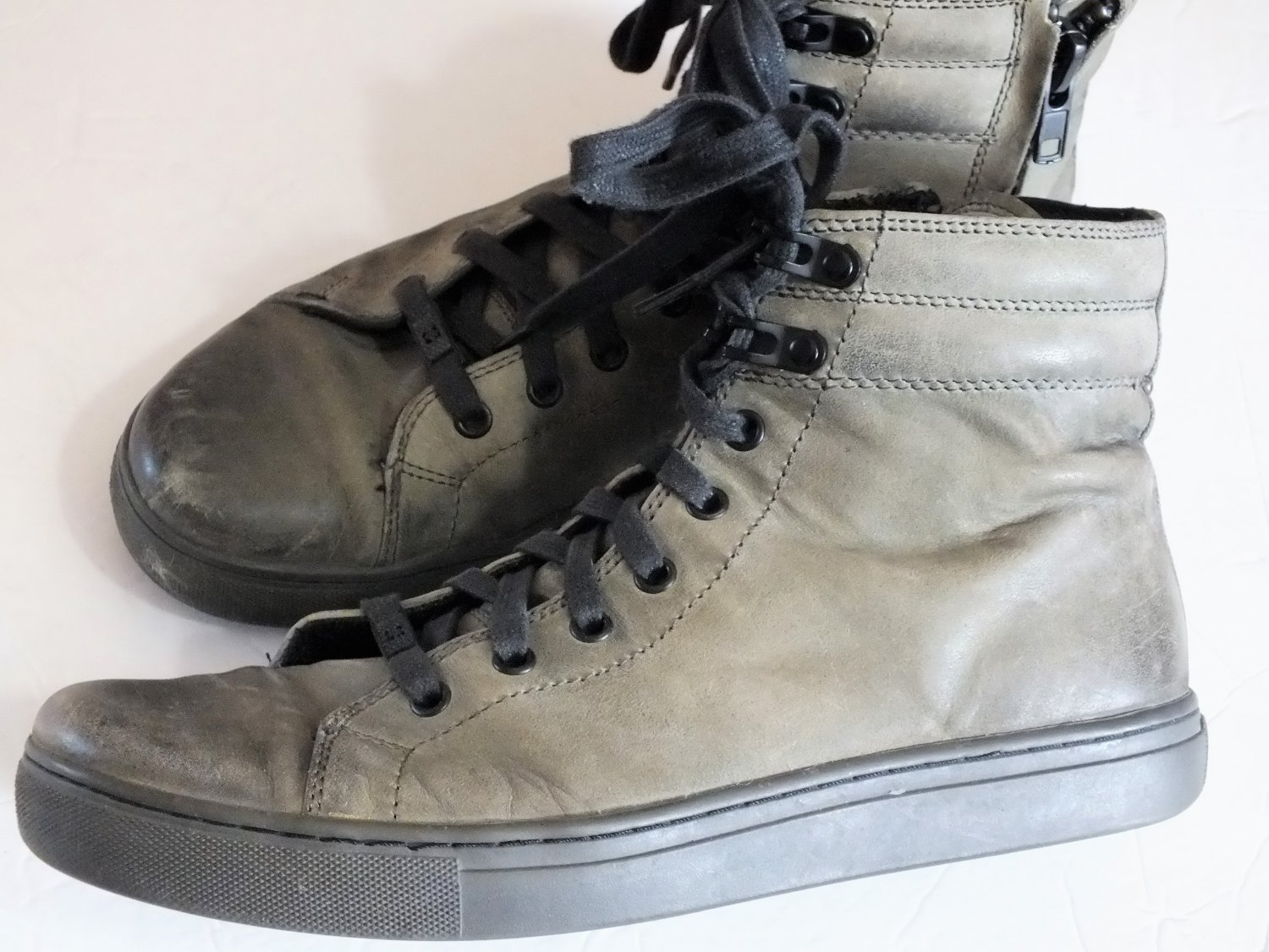Kenneth Cole Reactions brown leather ankle boots men size 9.5M