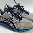 ASICS GEL BLUR33 gray black blue training running shoes athletic men size 13, free shipping