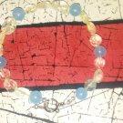 Chalcodony and quartz bracelet