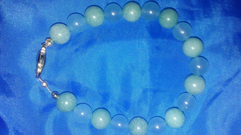 Chalcodony and Chrysocolla bracelet