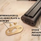 Star Trek TOS, P2 Phaser, Greg Jein Look Handle Bottom Plate Kit, Plate & Screws