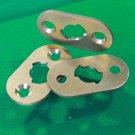 Star Trek TOS, Phaser, Brass Hero Bottom Plate, Metal Phaser Part, w/ 2 screws
