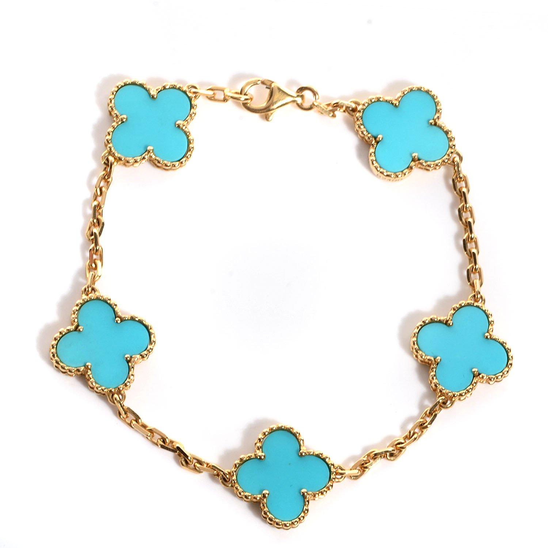 Clover - Van Cleef - Alhambra Style Bracelet in Solid 18k Gold