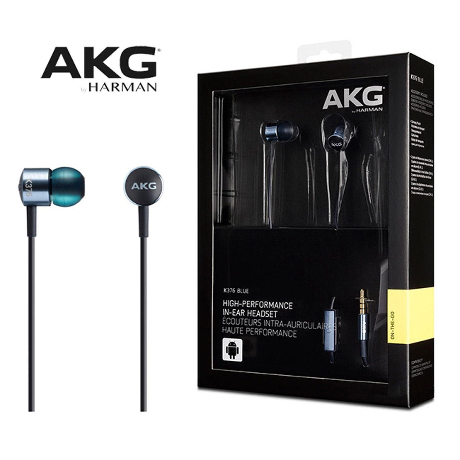 AKG K376 High-Performance In-Ear Earphones with In-Line Mic And Remote - BLUE