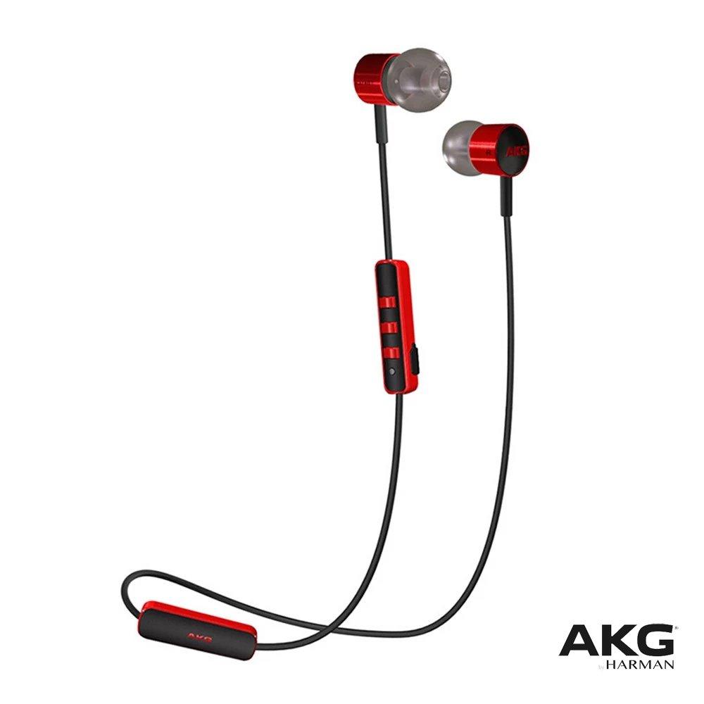AKG K374BT High-Performance Wireless Bluetooth Headphones Headset - RED