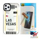Airline Tickets TPU Case for iPhone 11 Pro w/ Tempered Glass Combo