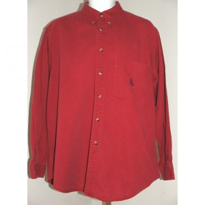 NAUTICA Red Long Sleeve Casual Shirt L