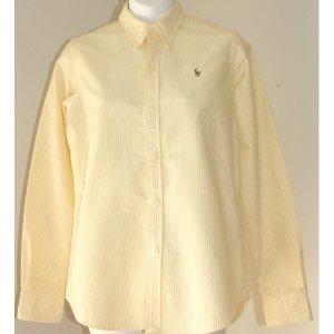 RALPH LAUREN Slim Fit Yellow White Shirt 8
