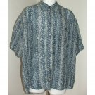 SILK UOMO Blue Short Sleeve Shirt L