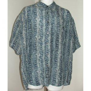 SILK UOMO Blue Short Sleeve Shirt L