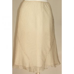 EXPRESS Black Dots Slip Skirt Small