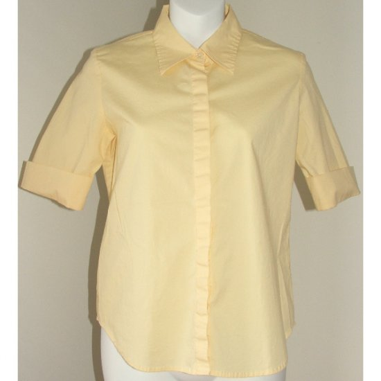 GAP Pale Yellow Cuffed Blouse Small