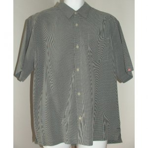 QUICKSILVER Grey Black Shirt M