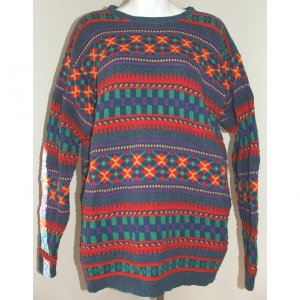 CLAIBORNE Liz Wear Multi-Colored Sweater L